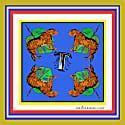 T For Tiger Alphabet Print image