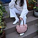 True Love Bag In Blush Silk Organza & Leather image