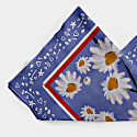 Barefoot Foulard With Daisies Print On Blue-Multicolour Background image