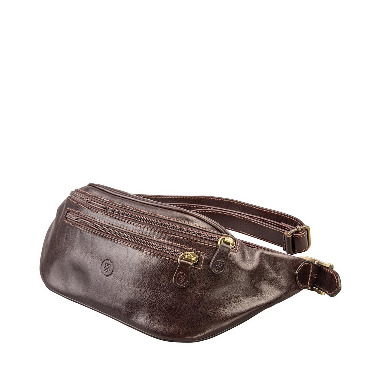 24be6e10ad Dark Brown Italian Leather Bum Bag Centolla   Maxwell Scott Bags ...