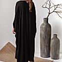 Black Viscose Long Kaftan Dress Alya image