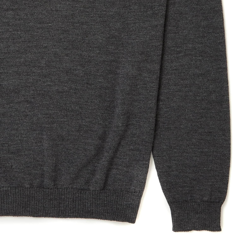 e35158ce3d9 Ossian Ultra Fine Merino Wool V Neck Jumper by Osso London