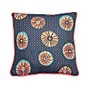 Blue Orange Linen Cushion image