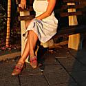 Delaware - Beige Retro Stripe Buckled Loafer image