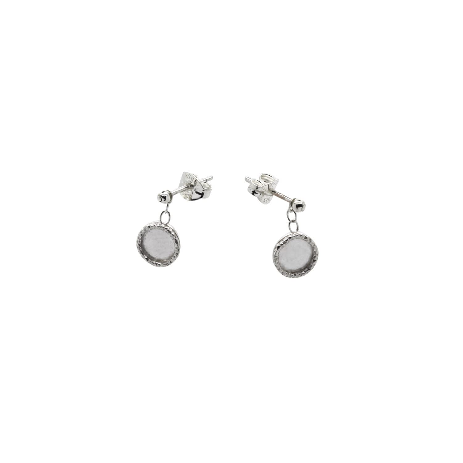 6f64aa977 Tiny Dot Drop Stud Earrings Sterling Silver | Lucy Ashton Jewellery ...
