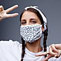 Pack Of 2 Face Masks - New York White image