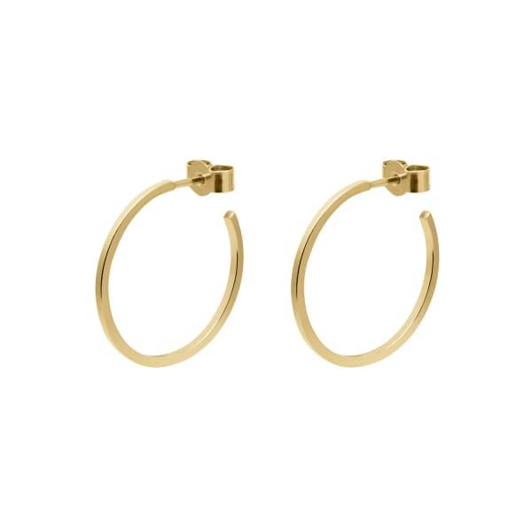MYIA BONNER Gold Medium Hoop Earrings