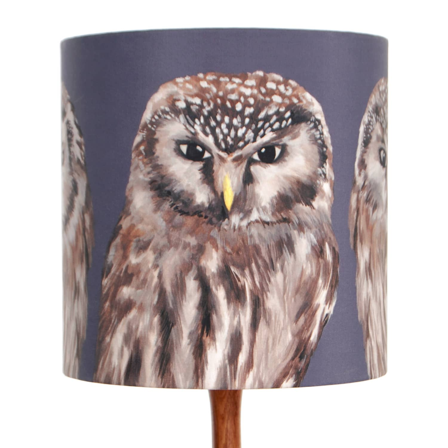 Owls lampshade small katie the wolf wolf badger owls lampshade small image aloadofball Choice Image