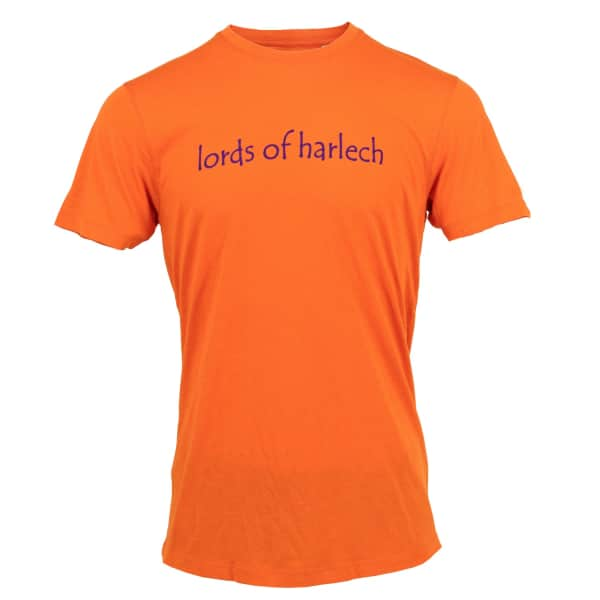 LORDS OF HARLECH Rob Logo Tee In Orange
