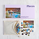 Boxed Swimming Pool Jigsaw Puzzle 500 Pieces image