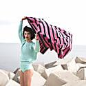 Bitmap Pink Waves Beach Towel image