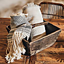 Studio Altar For Allpa : Handwoven Alpaca Throw - Beige & Black image