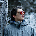 Vaquita Polarised Mirrored Recycled Sunglasses In Red Blue image