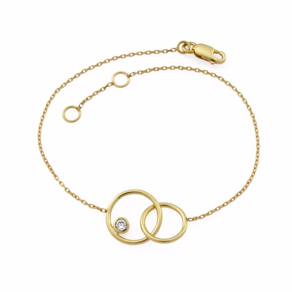 MONARC JEWELLERY The Meridian Night Bracelet in 9ct Gold & White Topaz