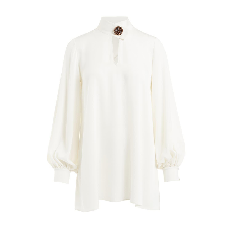 72896025 Nijinska White Silk Satin Blouse | WtR | Wolf & Badger