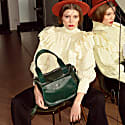 Natural Leather Handbag Turmeric Deep Green image