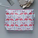 Flamingo Flourish Wash Bag Ice Blue image