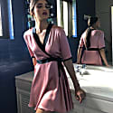 Silk Dress In Pink image