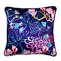 Midnight Florals Velvet Cushion image