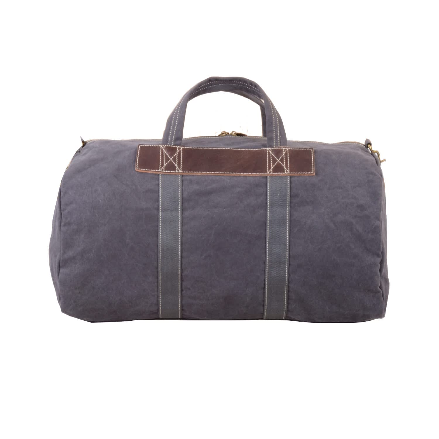 85d233be19 Canvas   Leather Duffle Bag In Grey image