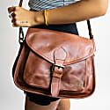 Classic Saddle Bag In Vintage Brown Leather image
