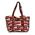 Pink & Black Velvet Ikat Shoulder Bag image