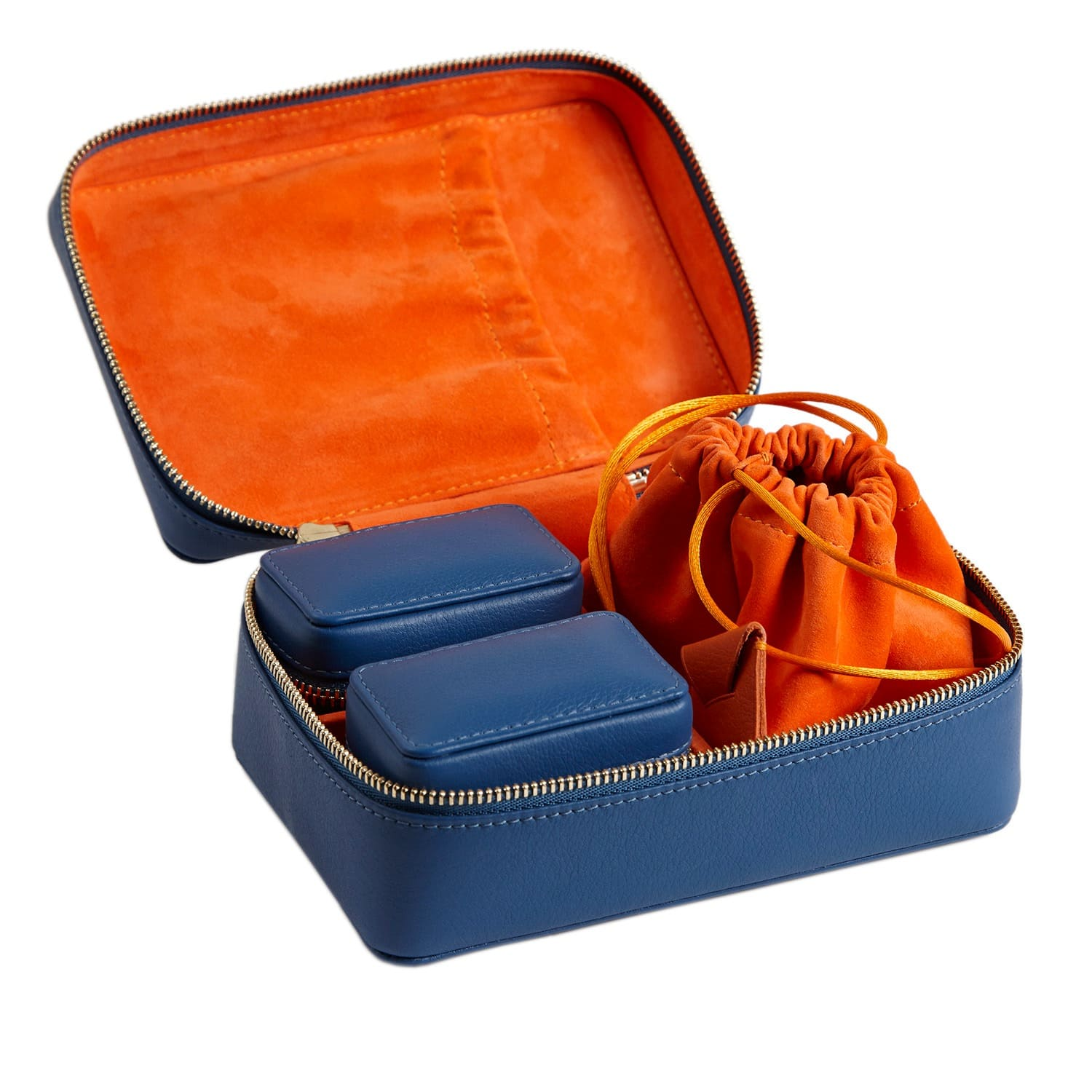 Three Piece Travel Jewellery Case Gift Set Blue By Stow
