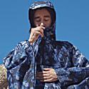 Rain Poncho In Blue 'Midnight Ocean' Print image