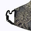 Adjustable Black Lace Encased Super Lightweight Organza Mask image