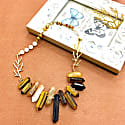 Tiger Eye & Freshwater Pearls Statement Necklace image