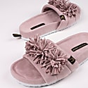 Albany Indoor Outdoor Slider Slipper In Mink image