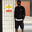 Cadley Utility Fleece Combat Shorts In Black image