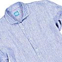 Sardegna Stripes Polera Shirt In Blue image