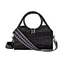 Maluku Vegan Bag Black With Indigo Jacquard Strap image