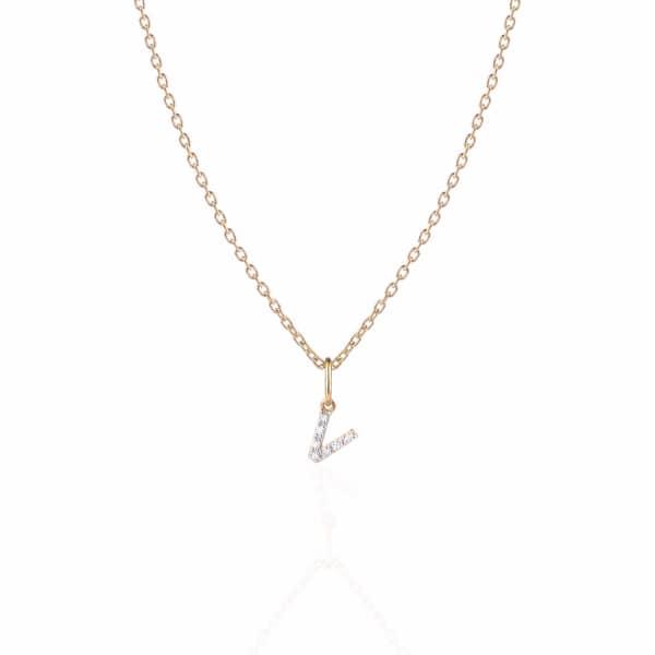SHARON MILLS LONDON Monogram Mini Diamond Necklace V