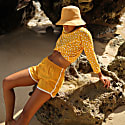 Girl Seaside Runner Shorts, In Sunflower Yellow image