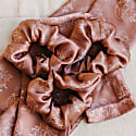 Monuriki Silk Satin Scrunchie With Floral Print image