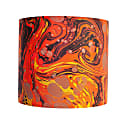 Carnelian Marbled Silk Shade image