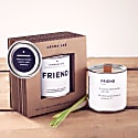 Scented candle with lemongrass - Gift for FRIEND image