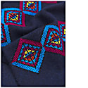 Made By Refugees Hand Embroidered Cashmere Scarf - Geometric Motif image