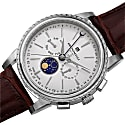 Mens Limited Edition Swiss Made Multi-Function Moonphase Watch With Italian Leather Strap image
