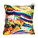 Silk Satin Large Cushion Magma Print image