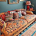 Butterscotch Suzani Bedspread Or Throw image