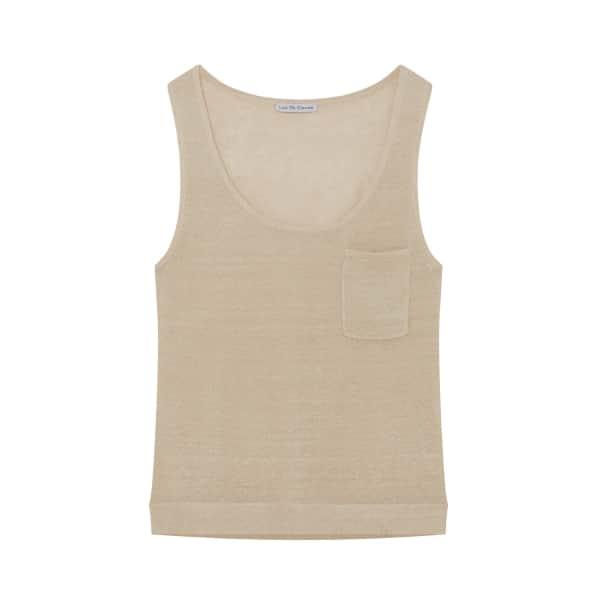 ILLE DE COCOS Linen Gauze Vest Natural