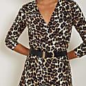Abigail Dress In Leopard Print image