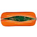 Orange Vegan Leather Oyster Cosmetic Case image
