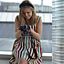 Colourful Tivoli Inspired Dress Brown image