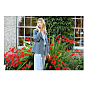 Crop Trouser In Boucle Blue Silk & Fine Wool From Savile Row London image