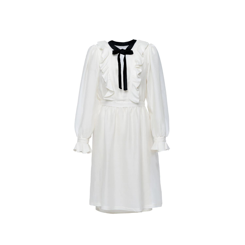 Pearl White Silk Dress 3   Shopyte   Wolf & Badger