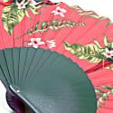 Plum Parrot Hand Fan image